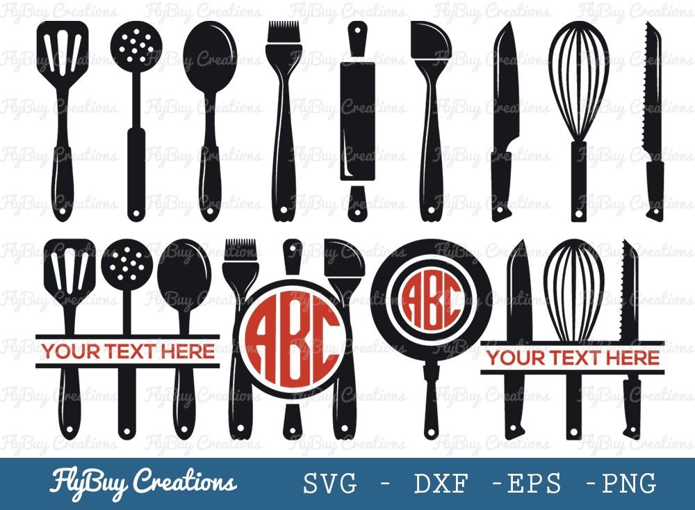 Kitchen Utensil SVG Cut File | Kitchen Tools