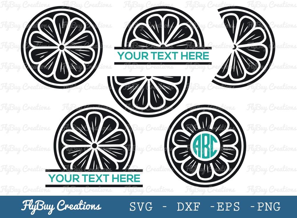 Lemon Slice SVG Cut File | Half Lemon Svg