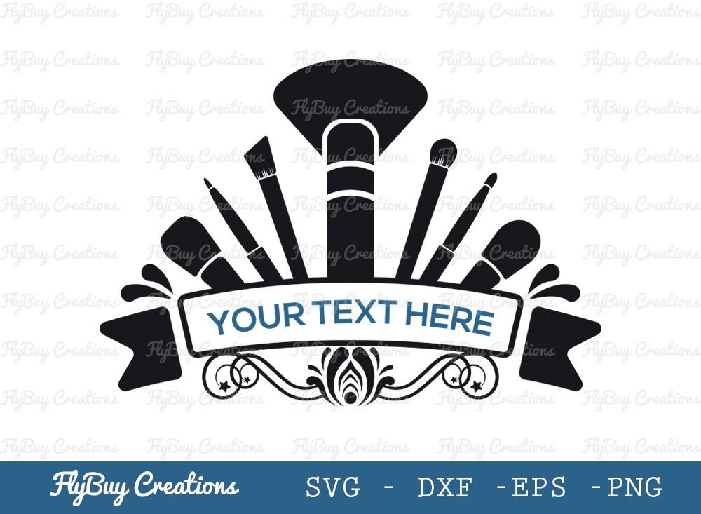 Makeup Monogram SVG Cut File | Makeup Logo