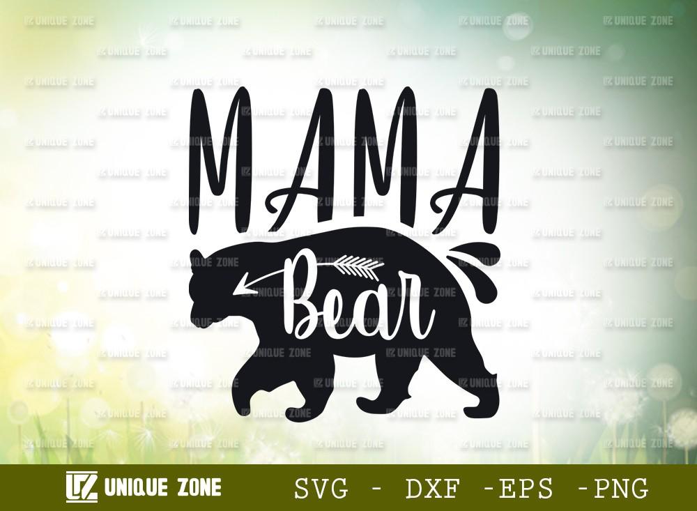 Mama Bear SVG Cut File | Animal Svg