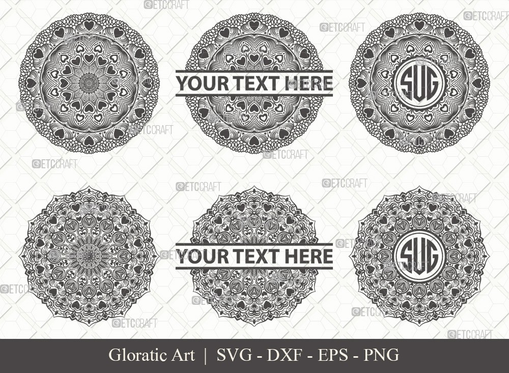 Mandala SVG Cut File | Monogram | M0010