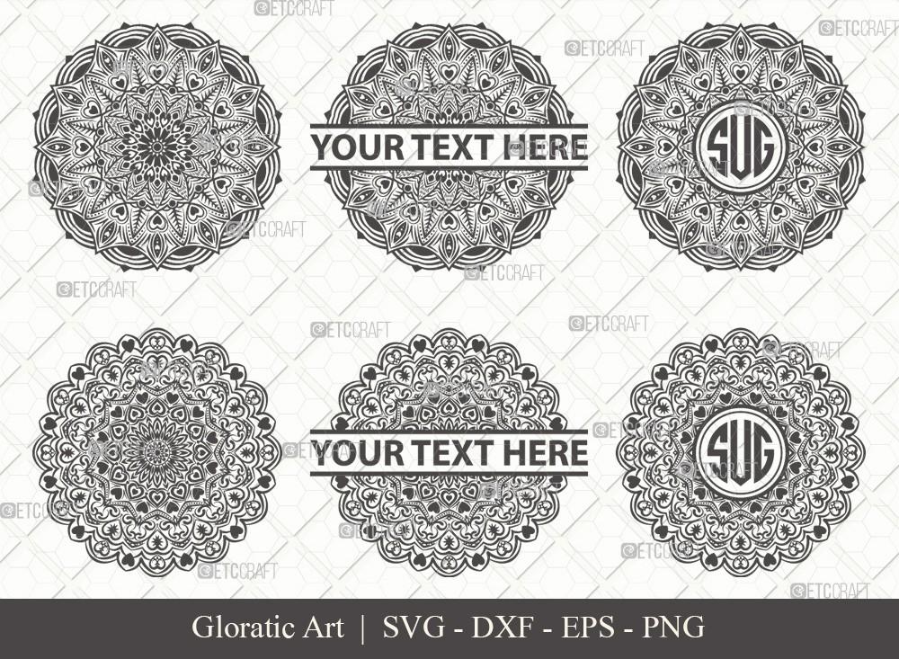 Mandala SVG Cut File | Monogram | M0011