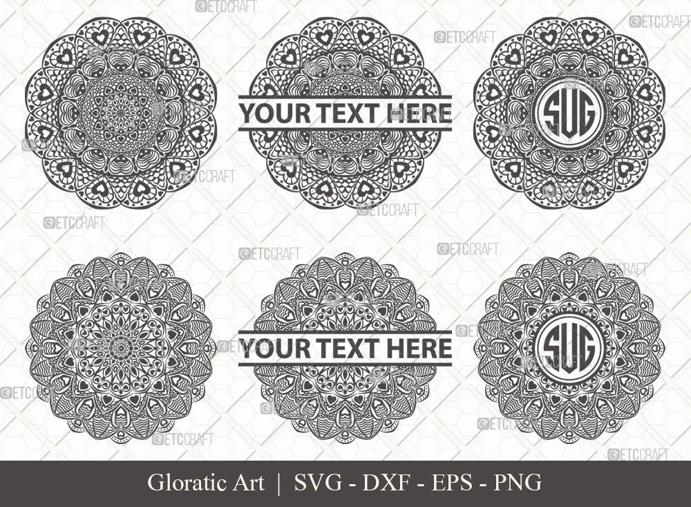 Mandala SVG Cut File | Monogram | M0012