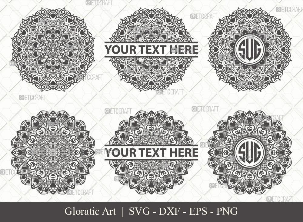 Mandala SVG Cut File | Monogram | M0013