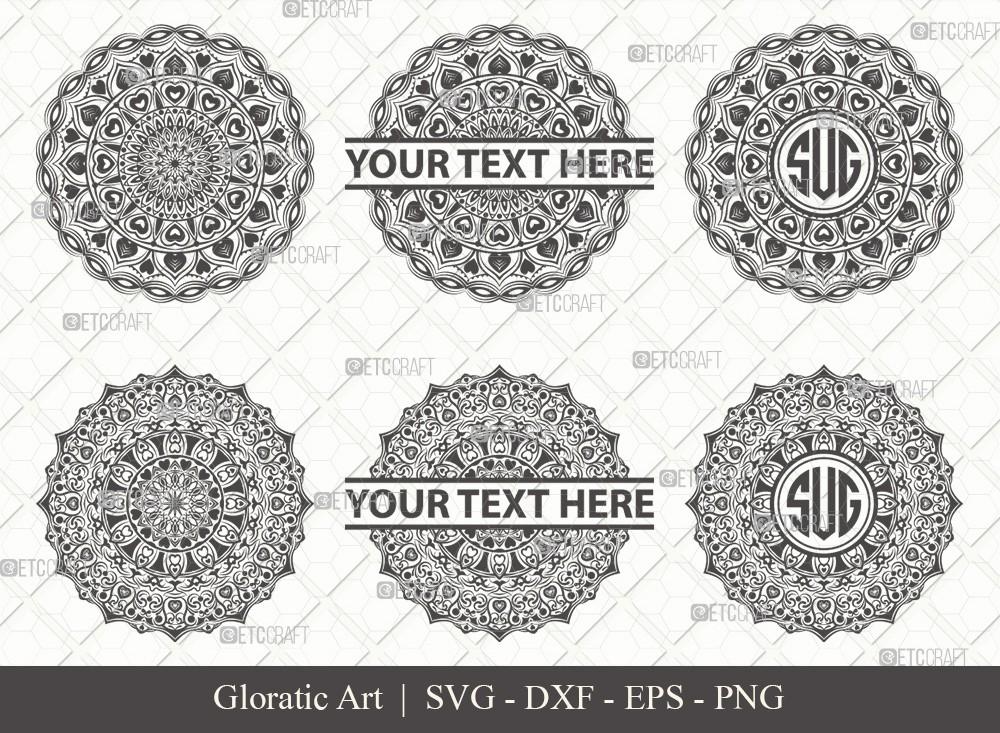 Mandala SVG Cut File | Monogram | M0014