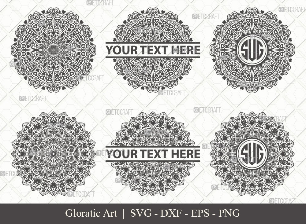 Mandala SVG Cut File | Monogram | M0015