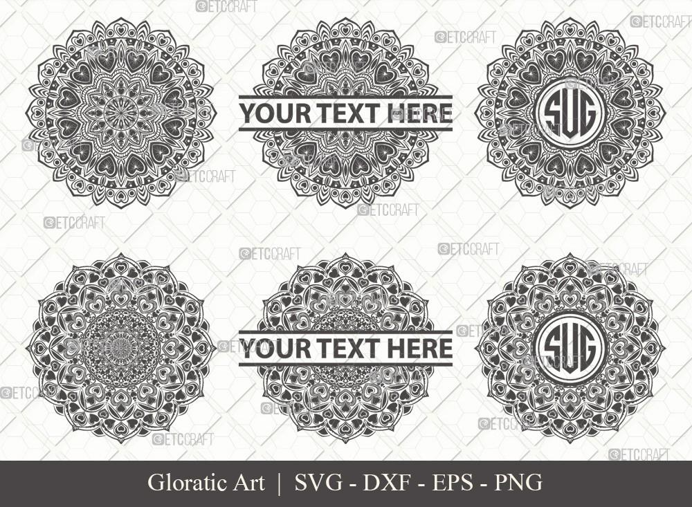Mandala SVG Cut File | Monogram | M00016