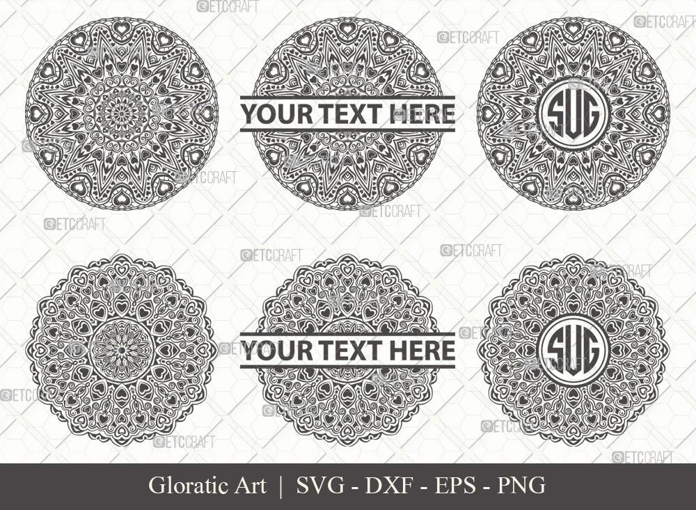 Mandala SVG Cut File | Monogram | M00017