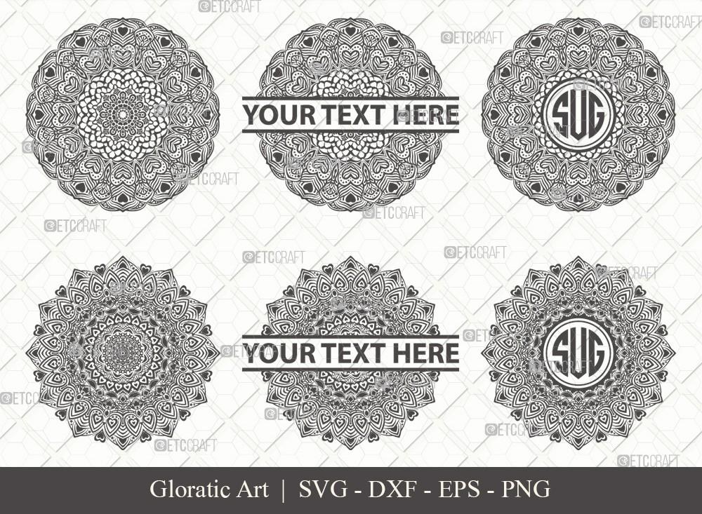 Mandala SVG Cut File | Monogram | M00018