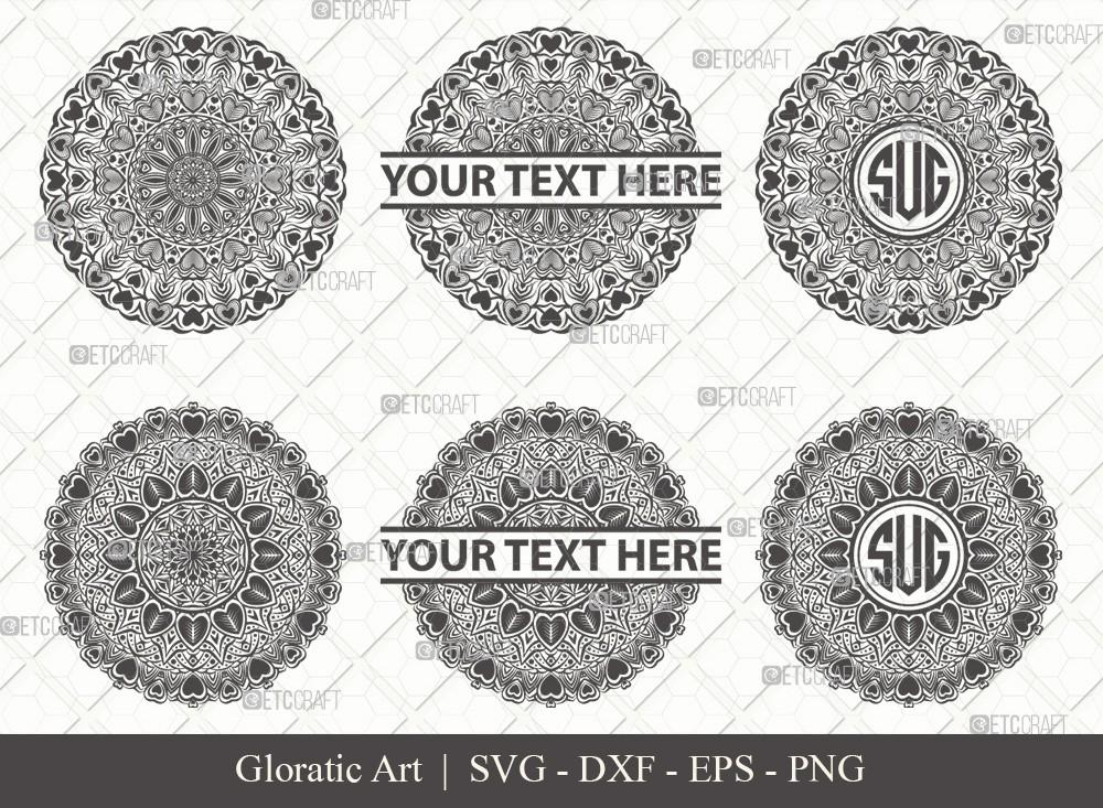 Mandala SVG Cut File | Monogram | M0004