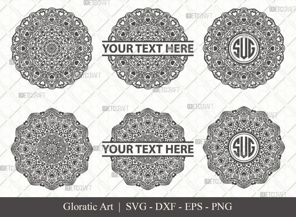 Mandala SVG Cut File | Monogram | M0005