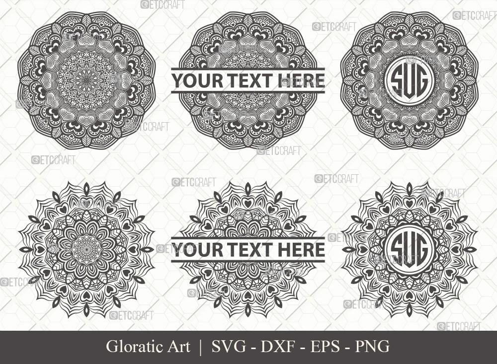 Mandala SVG Cut File | Monogram | M0006