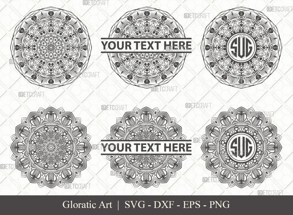 Mandala SVG Cut File | Monogram | M0007