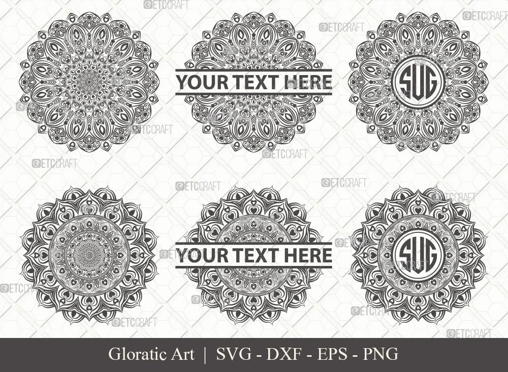 Mandala SVG Cut File | Monogram | M0008