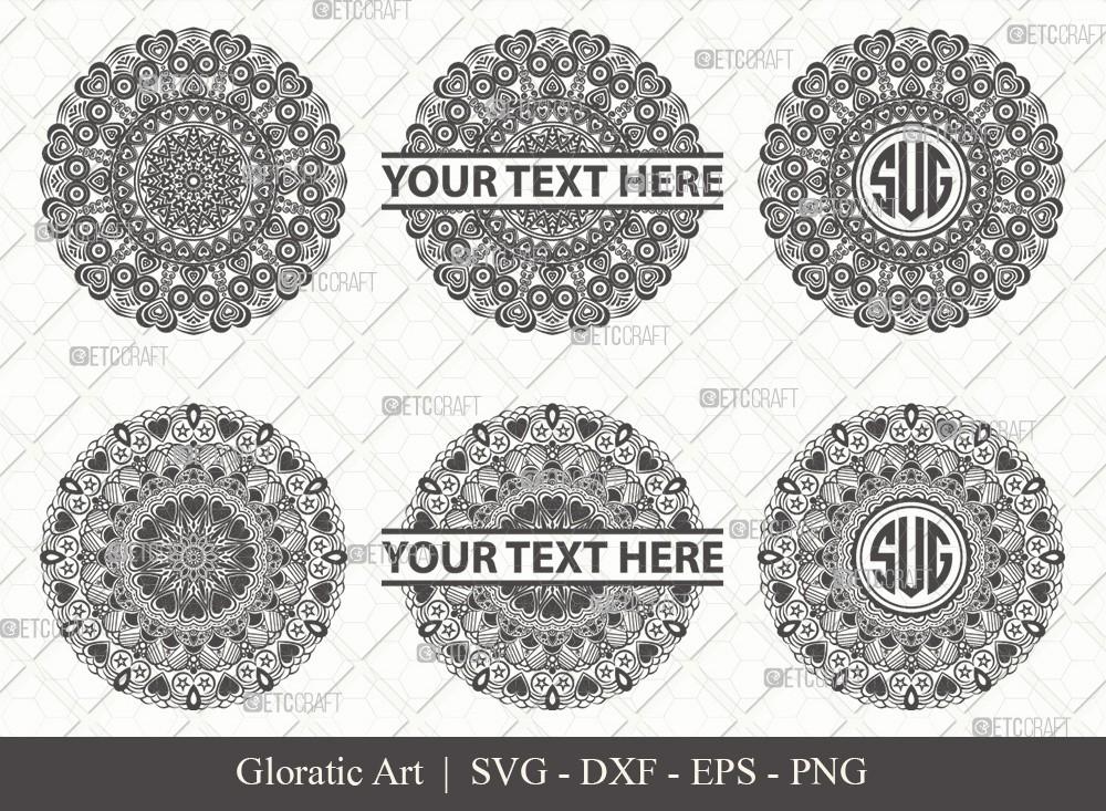 Mandala SVG Cut File | Monogram | M0009