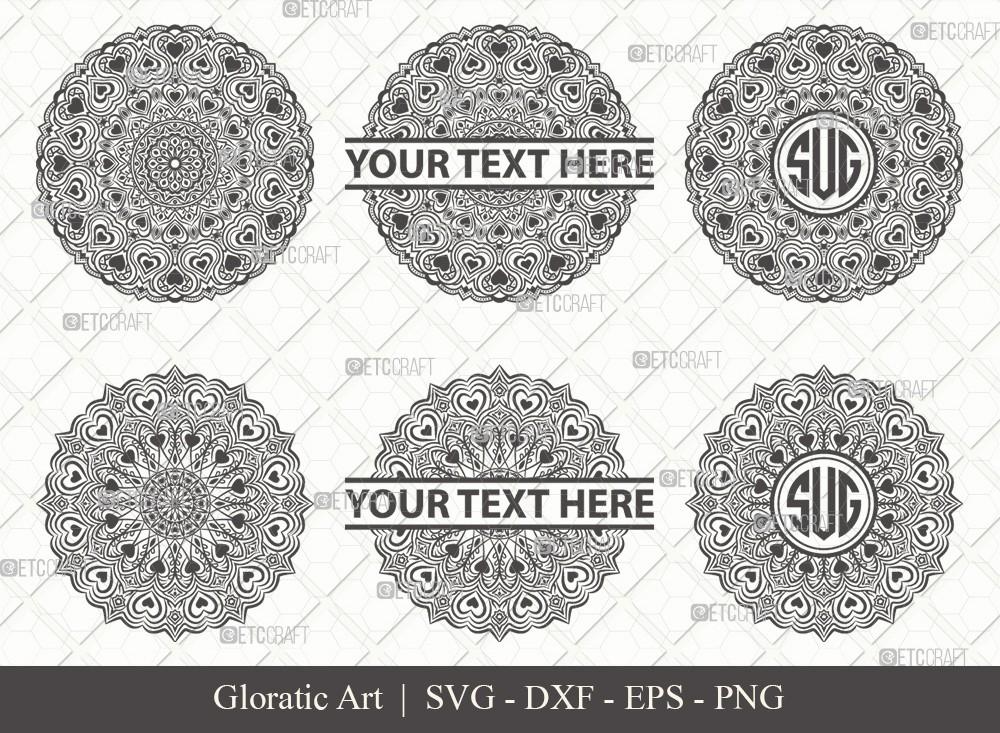 Mandala SVG Cut File | Monogram | M0001