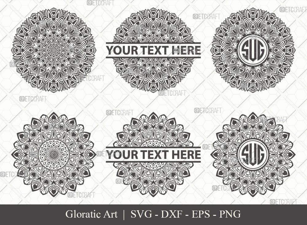 Mandala SVG Cut File | Monogram | M0002