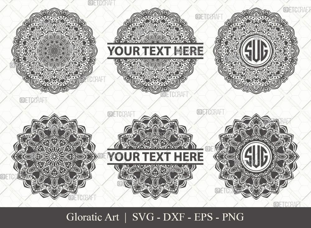 Mandala SVG Cut File | Monogram | M00019