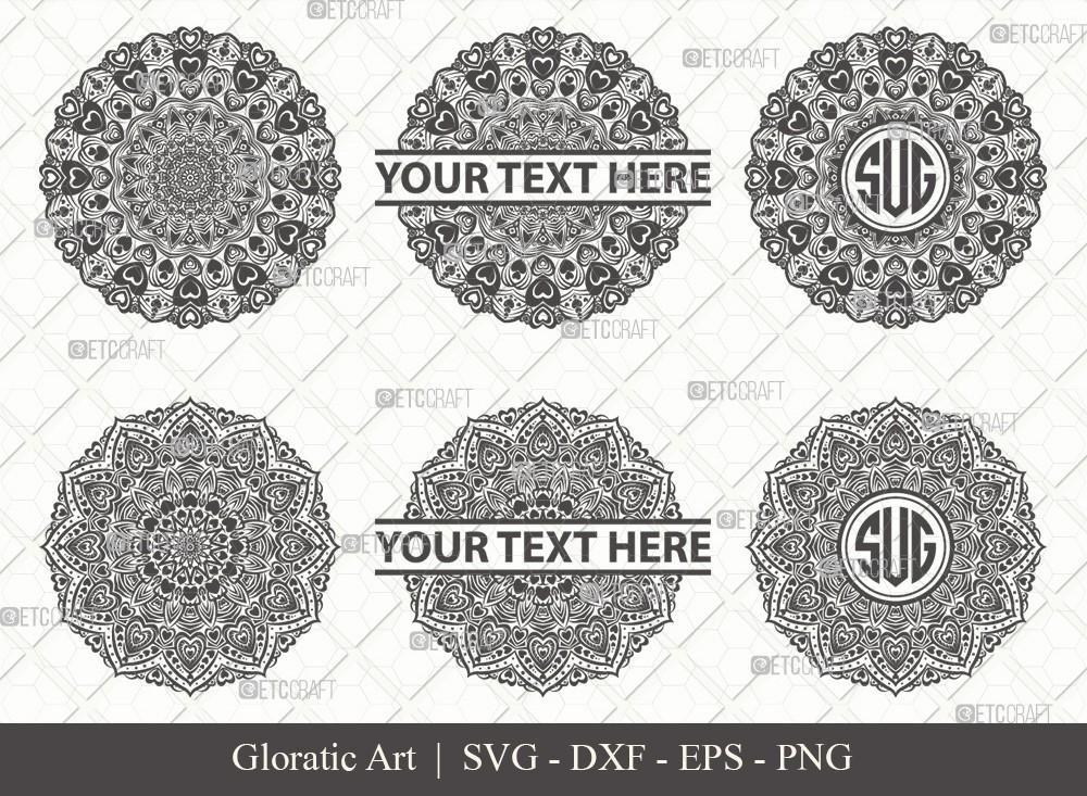 Mandala SVG Cut File | Monogram | M00020