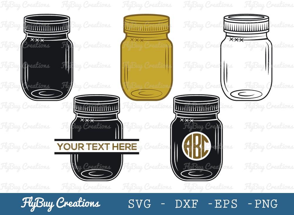 Mason Jar SVG Cut File | Jam Bottle Svg