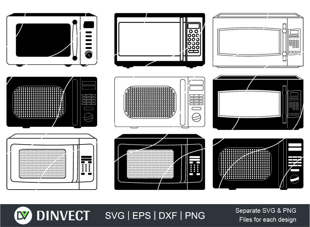 Microwave svg, Microwave Clipart, Microwave Silhouette