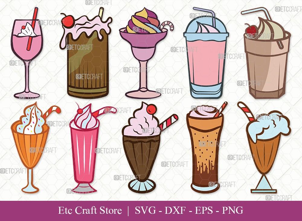 Milkshake Clipart SVG Cut File | Drink Shake Svg