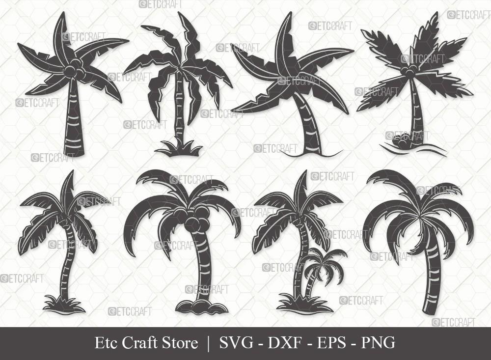 Palm Tree Silhouette SVG Cut File | Palm Svg