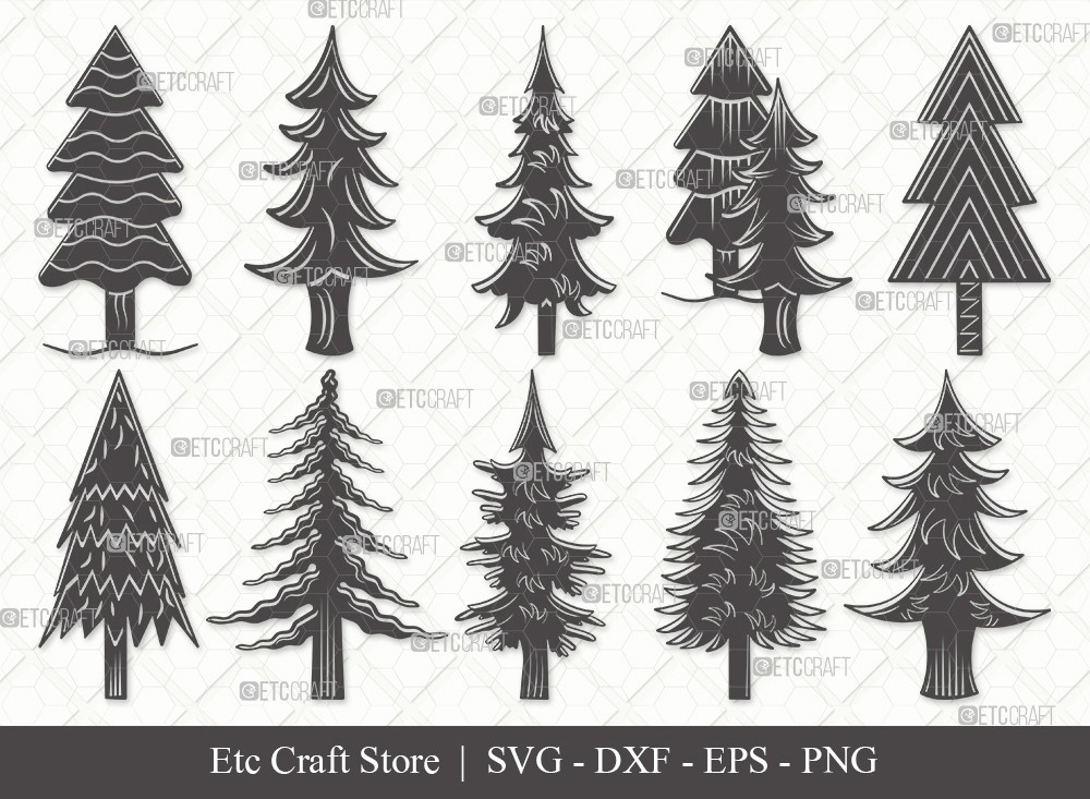 Pine Tree Silhouette SVG Cut File | Pine Svg