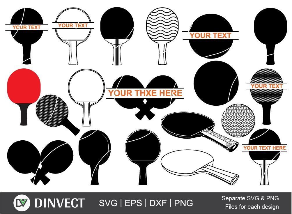 Ping pong svg, Ping pong monogram svg