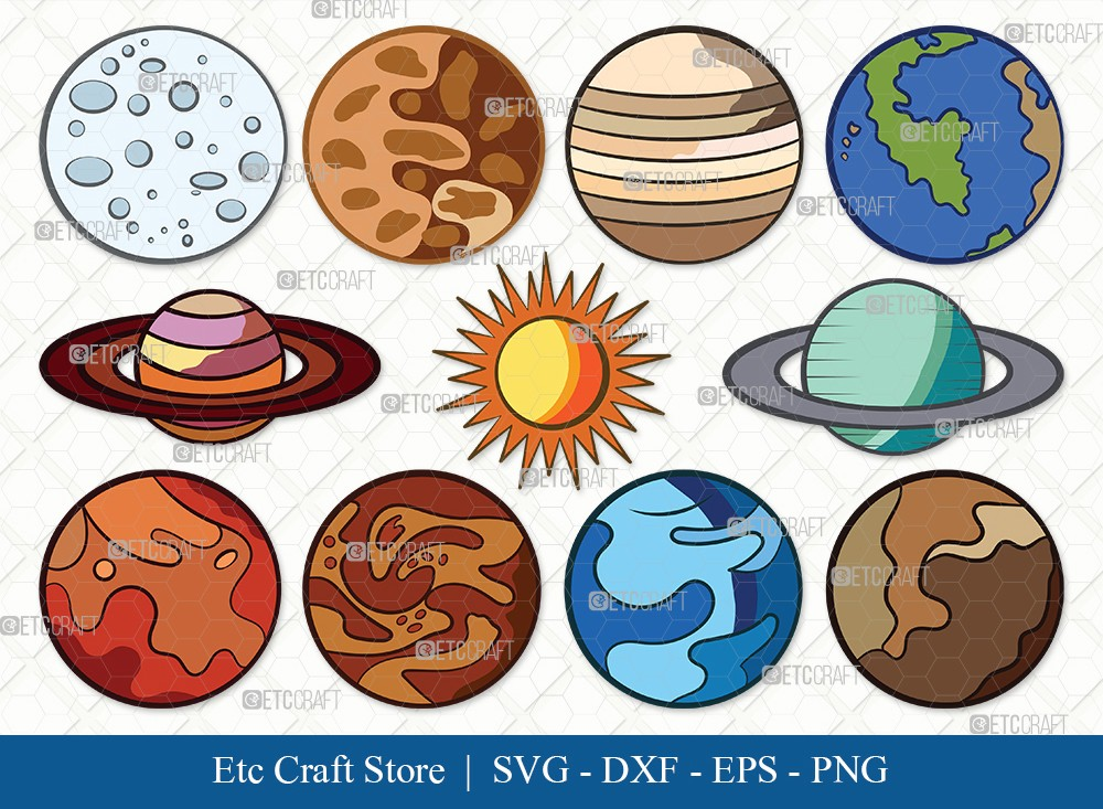 Planet Clipart SVG Cut File | Earth Svg
