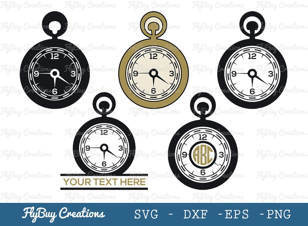 Pocket Watch SVG Cut File   Stop Watch Svg