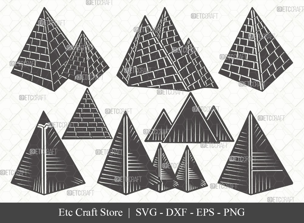 Pyramid Silhouette SVG Cut File | Egypt Svg