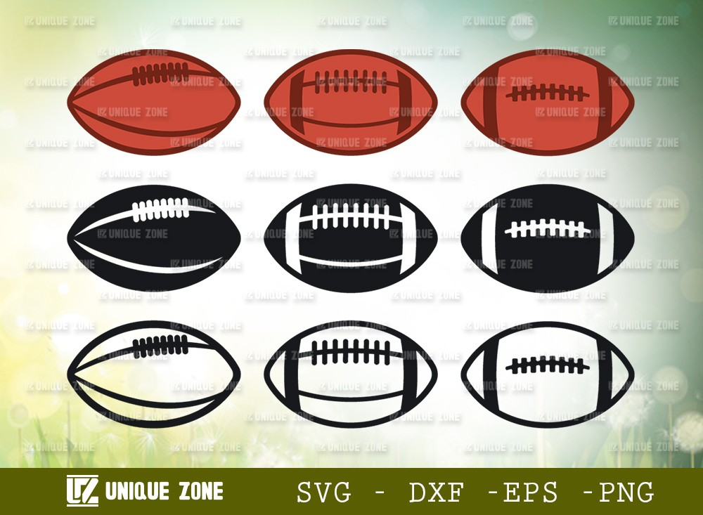 Rugby Ball SVG Cut File   Rugby Ball Bundle