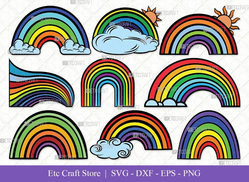 Rainbow Clipart SVG Cut File | Rainbow Svg