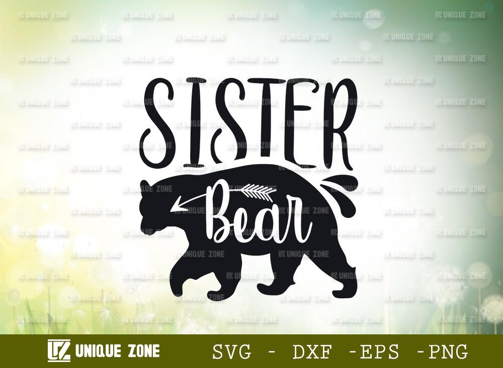 Sister Bear SVG Cut File | Animal Svg