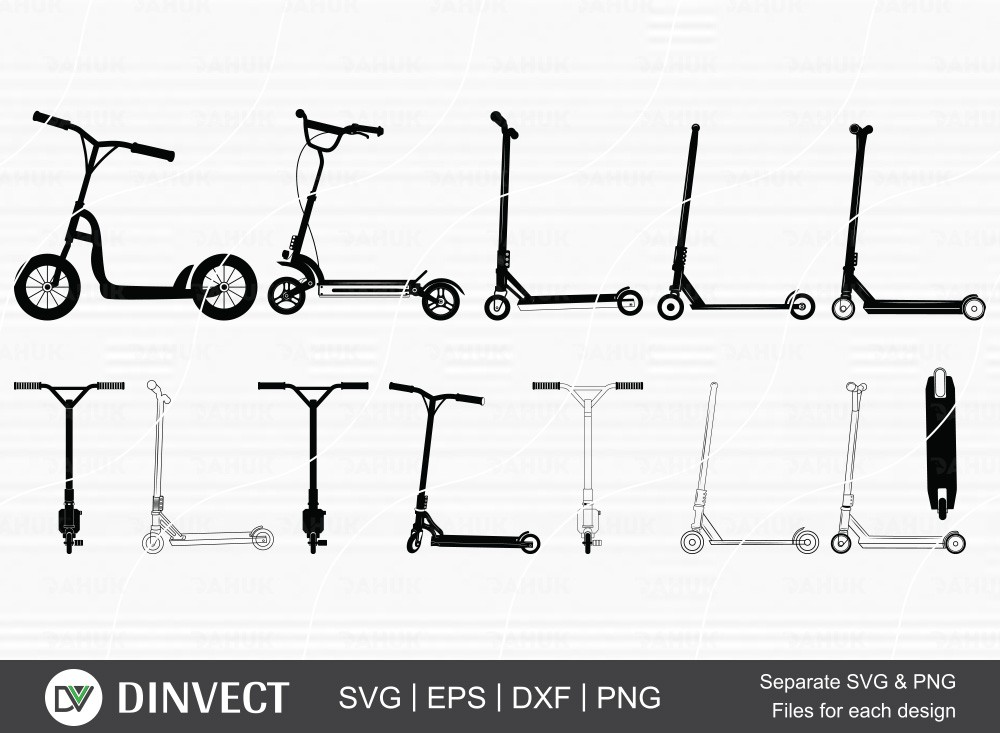 Stunt Scooter SVG, Scooter Silhouette, Scooter clipart