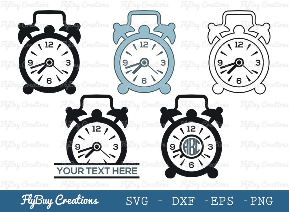 Table Clock SVG Cut File | Watch Svg | Timer Svg