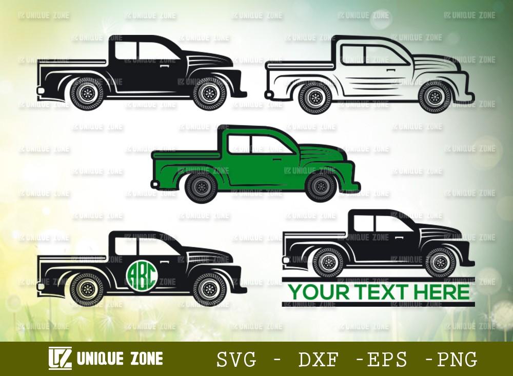 Vintage Farm Truck SVG | Truck Monogram