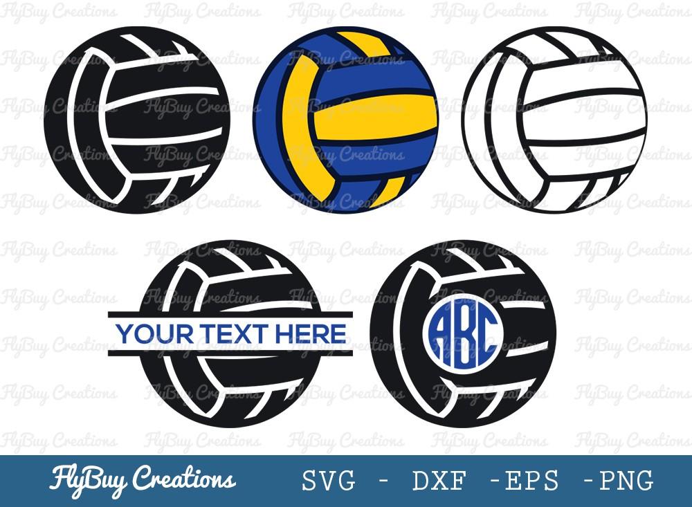 Volley Ball SVG Cut File   Sports Ball Svg