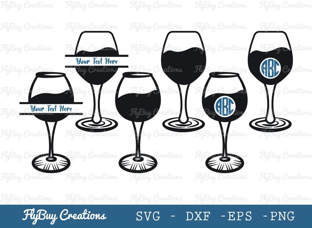 Wine Glass SVG Cut File   Alcohol Glass Svg