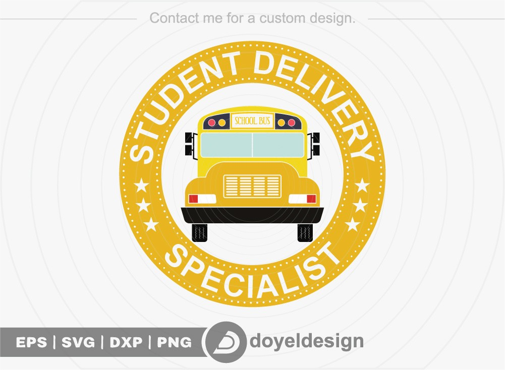 Student delivery specialist SVG Cut File