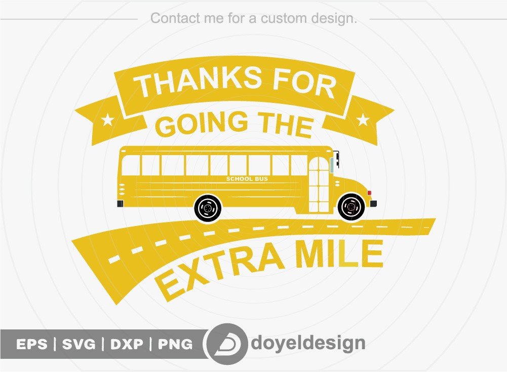 Thanks for going the extra mile SVG Cut File