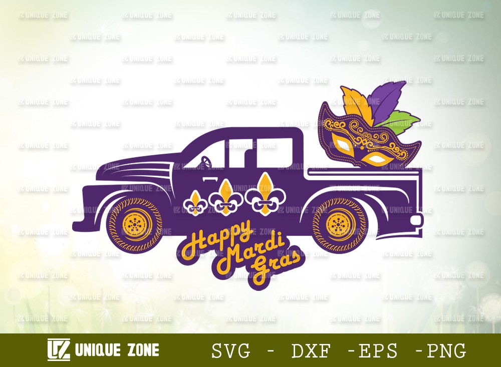 Happy Mardi Gras SVG Cut File   Mardi Gras Svg