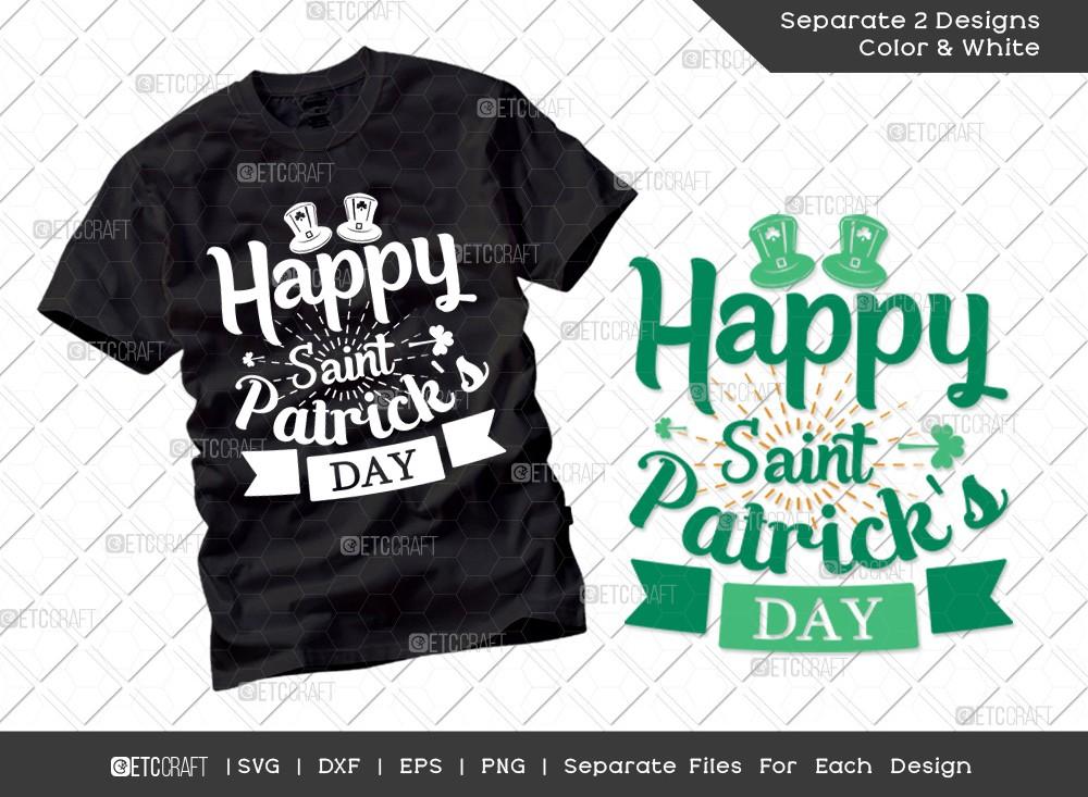Happy Saint Patricks Day SVG Cut File | Irish T-shirt Design
