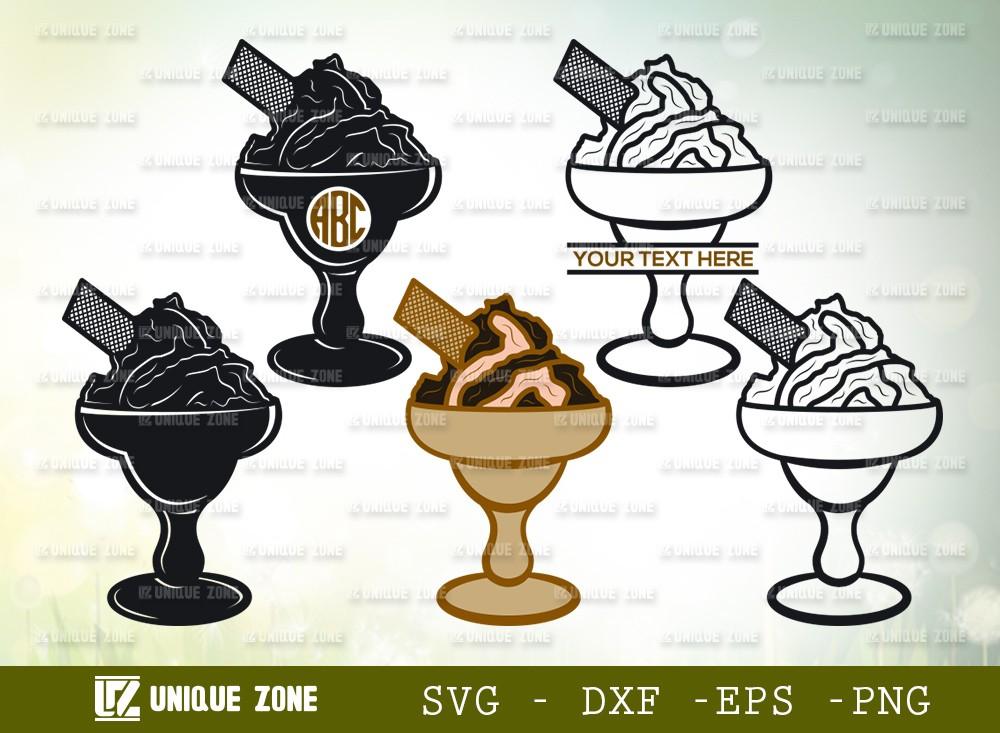 Ice Cream SVG Cut File | Ice Cream Cone Svg | Frozen yogurt Svg