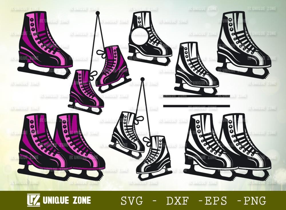 Ice Skates SVG Cut File | Figure Skates Svg