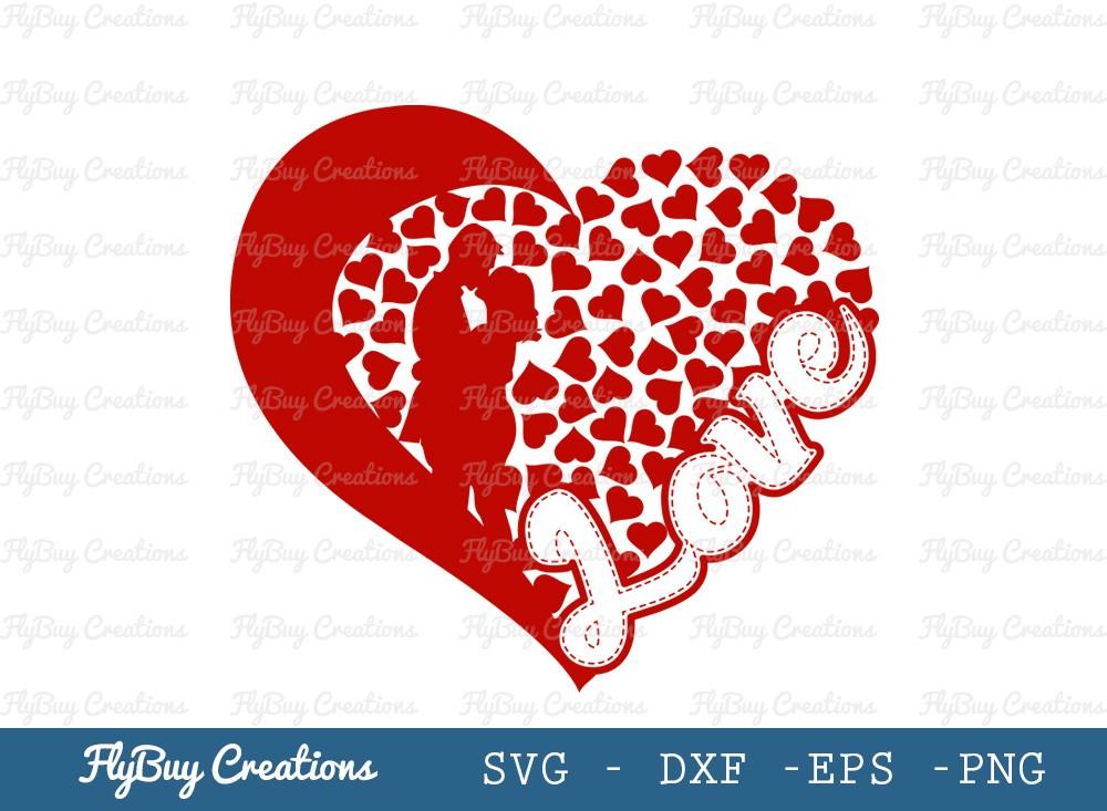 Love SVG Cut File | Heart Svg | Valentine Day Svg