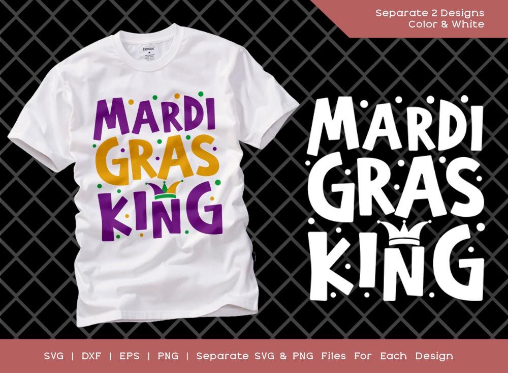 Mardi Gras King SVG Cut File   Happy Mardi Gras