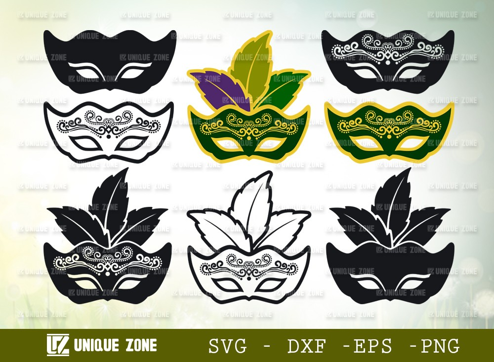 Mardi Gras Mask SVG Cut File | Fat Tuesday Svg | Orleans Party Svg
