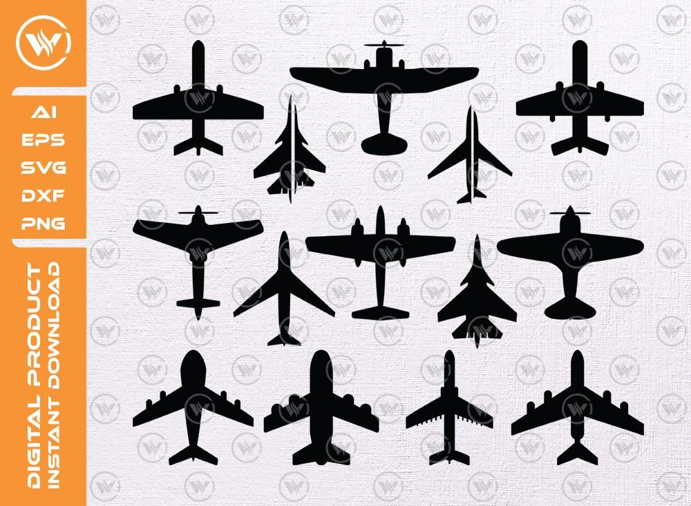 Airplane SVG | Airplane Silhouette | Airplane Icon SVG Cut File